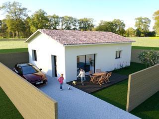 maison hameau calme construction