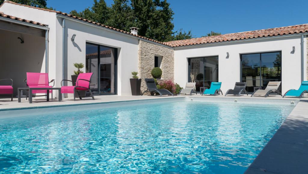 Maison d'architecte à Royan avec piscine